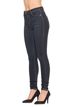 Rubberband Stretch Womens HighRise Skinny Jeans ElenaBlue Black  Size 29 910 >>> You can get more details by clicking on the image.