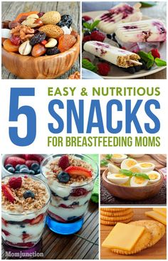 5 Easy & Nutritious Snacks For #Breastfeeding Moms :check out some easy to make and healthy snack ideas while you are breastfeeding.