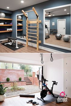 Stay Fit Indoors: How to Create that Perfect Small Home Gym Home Gym Basement, Home Gym Garage, Diy Home Gym, Gym Room At Home, Home Gym Decor, Basement Remodeling, Basement Workout Room, Dream Home Gym, Workout Room Home