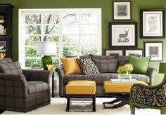 Rafraîchissants salons avec des accents verts ~ Décoration Salon / Décor de Salon