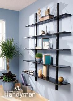Photo of suspended shelves