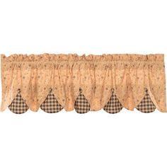 Maisie Ditsy Floral Check Scalloped Curtain Valance 60 x 18 Tier Curtains, Burlap Curtains, Country Curtains, Valance Curtains, Valances & Cornices, Country Valances, Window Cornices, Farmhouse Valances, Primitive Curtains