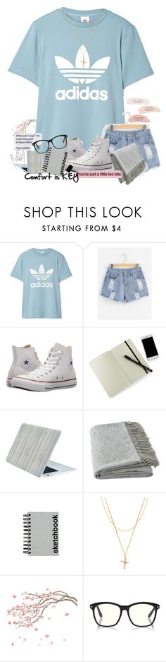 """Comfort Is Key"" by lucyrae59 ❤ liked on Polyvore featuring adidas Originals, Converse, Moleskine, Ballard Designs, Paperchase and Joolz by Martha Calvo"