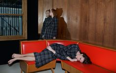 Tank Magazine Volume 8 Issue 9, Autumn 2016, The Food Issue – Wild strawberries: an interior world of secret gestures and whispers. Photography by #JoannaPiotrowska, styling by #NobukoTannawa – Leaning, lying, vacant, reposing. All of #JamilyWernkeMeurer and #VictoriaSchons's clothes are by #Balenciaga. – See more here: http://tankmagazine.com/issue-68/features/joanna-piotrowska-and-nobuko-tannawa #TankFoodIssue