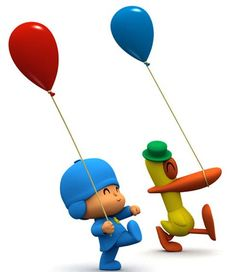 Pocoyo, Pato and their balloons...    www.pocoyo.com