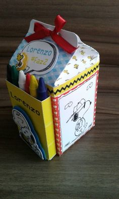 Snoopy Party, Peanuts Gang Birthday Party, Snoopy Birthday, Diy Eid Gifts, Paper Box Template, Milk Box, Diy Gift Box, Party In A Box, Craft Box