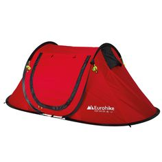 Eurohike Pop Up 200 SD 2 Man Tent Red #CyclingBargains #DealFinder #Bike  sc 1 st  Pinterest & Quechua 3 Seconds 3 Man Popup Tent Double Skin Camping / Festival ...