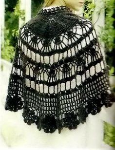Crochet Shawl Cape Pattern - Wonderful
