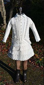 Small Childs Victorian Lace Bustle Dress, Large Doll Holiday Dress! - Barndust #dollshopsunited