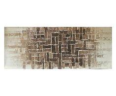 Dipinto a mano su tela Mosaico di pietra - 120x40 cm