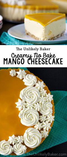 [VIDEO]+This+no+bake+mango+cheesecake+is+a+delightful+tribute+to+the+fruit!+Luxuriously+smooth+and+a+breeze+to+make,+it's+the+perfect+spring+and+summer+treat.+via+@unlikelybaker