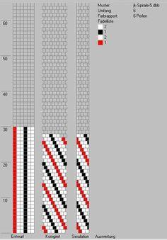 6 around tubular bead crochet diagram.
