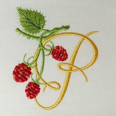 Wild Raspberries Monogram