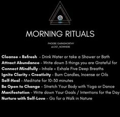 These are my morning rituals and the reasons why! Adapting spirituality into you… These are my morning rituals and the reasons why! Adapting spirituality into your daily life will harmonize your mind, body and soul. Mind Body Soul, Body And Soul, Mind Body Spirit, Stress, Chakra Heilung, Reiki, Morning Ritual, Tracy Anderson, Spiritual Awakening