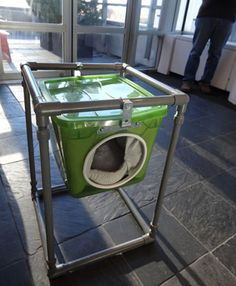 Feral cat shelter- PVC frame and plastic storage box