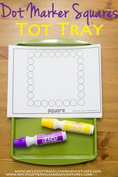 Square Themed Tot School