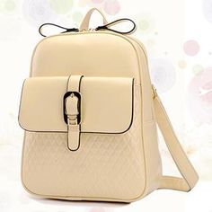 Faux-Leather Belted Backpack from #YesStyle <3 BeiBaoBao YesStyle.com
