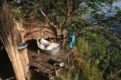 Coolest bathrooms ever! Ngepi Camp, Caprivi Strip, Namibia