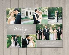 Wedding Thank You Card Printable by Vintage by vintagesweetdesign card printable Wedding Thank You Card (Printable) by Vintage Sweet Wedding Album Layout, Wedding Collage, Wedding Canvas, Photo Thank You Cards, Photo Cards, Thanks Card Wedding, Wedding Card, Wedding Book, Dream Wedding
