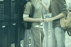 """""""Stop doing that"""" he pushes the younger boy against the locker with a loud slam. """"Doing what?"""" He asks a little too innocently. """"Don't- you know what you're doing"""" he paused, looking anywhere but the boy's eyes in front of him. """"Looking at me like that"""" he leans closer to him and lowers his voice. But the younger boys reaction was just an incredulous smirk."""