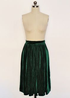 Sway With Me Skirt in Velvet Green | Doll Me Up