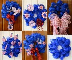 4th of July Mesh Wreath Ideas - Bing Images