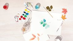 Favorite Fall Craft: Watercolor Leaves from Martha Stewart