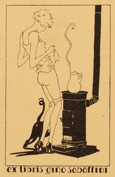 Therese B. Fournier (France): Ex libris for Gino Sabattini, 1945.