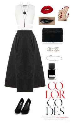 """Black n white #1"" by linhthuy28 on Polyvore featuring BCBGMAXAZRIA, Elie Saab, Nly Shoes, Proenza Schouler, Chanel, Amorium, Lime Crime, MiN New York, women's clothing and women"