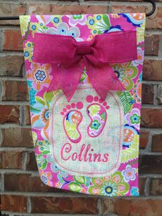 Personalized Girl Birth Announcement Garden by embroiderybyhannah, $23.00