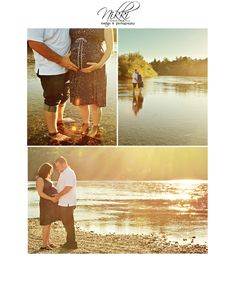 Maternity Photo Shoot by the river - belly bump photos, maternity photography