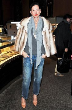 Jenna Lyons' Complete Guide to Denim via @WhoWhatWear Faux Fur and Denim