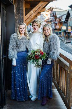 Navy Bridesmaid Dresses | Image by Eight Bells - Wedding Imagery | winter wedding inspiration | wedding dress inspiration | bridesmaid dress