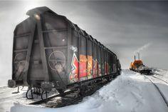 Deserted trainstation by Jan Kiese