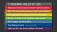 Cardinal Rules of Life Profound Quotes, Motivational Quotes, Time Heals, Dont Compare, Make Peace, Daily Motivation, Health And Wellbeing, Other People, Life Lessons