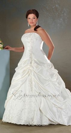 plus size wedding dress 2013 *** cap sleeves could be added to this one easily since it has a simple neckline***