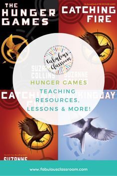 Who doesn't love the Hunger Games? Have fun using these lessons, activities, printables, and more. Most resources are free! #hungergames #kidlit #teenlit #dystopian via @marcycohenturner