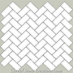 Pattern Composition: • 4x8 = 100% (or) • 6x12 = 100% (or) • 8x16 = 100% (or) • 12x24 = 100%  Carved Stone Creations carries a variety of stone tile in pattern sets like you see here.