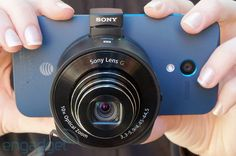 Saw this in person.  Good reviews, easy concept.  Love it.  Sony Cyber-shot QX10 review: a WiFi 'lens camera' that mounts directly on your smartphone