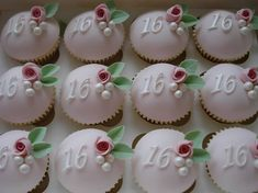 16th birthday cupcakes by Katie's Cakebox