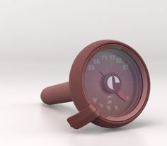 HOT STUFF Cooking Thermometer | Design Alain Gilles for EVOLUTION  - themometer cooking thermometre cuisson fonctional fonctionnalité smart modern kitchen tool ustensil de cuisine modern design contemporary French Français art de vivre graphic graphique Mauviel silicone four oven copper cuivre