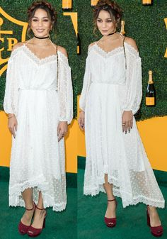Vanessa Hudgens at the annual Veuve Clicquot Polo Classic at the Pacific Palisades on October 2016 Estilo Vanessa Hudgens, Vanessa Hudgens Style, Modern Fashion, Boho Fashion, Fashion Outfits, Boho Chic, Bohemian, Summer Outfits, Cute Outfits