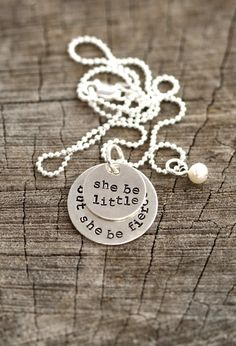 shakespeare quote necklace, teen girl necklace, necklace for teen, teen necklace, jewelry for teenage girls, teenage girl gift, fierce girl