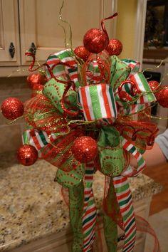 Festive Glitter Ball Christmas Tree Topper by ...