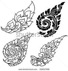 Line Thai art design , Vector Tattoo Lettering Design, Styrofoam Art, Khmer Tattoo, Cambodian Art, Sak Yant Tattoo, Flame Tattoos, Thai Design, Thai Pattern, Thailand Art