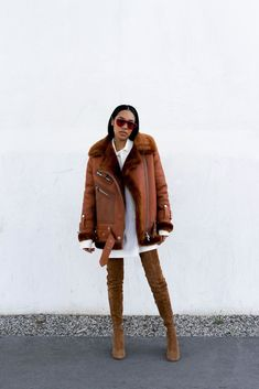 "How To Embrace Streetwear (& Not Look Ridiculous) #refinery29 http://www.refinery29.com/blogger-aleali-may-how-to-style-streetwear-trend#slide-5 What are the most important pieces for putting together a street-ready winter look? ""The jacket and the boots. If you have those two staple pieces, you can always layer with sweaters and scarves underneath. Invest in a nice, cool jacket that's a different color [from what you normally wear]. I wear a ton of black, so I'll get a blue jacket to…"