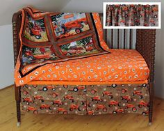 Items similar to Allis Chalmers Tractor Nursery Set: Quilt, Window Valance, Crib Sheet and Skirt on Etsy Tractor Nursery, Allis Chalmers Tractors, Crib Skirts, Crib Mattress, Future Baby, Cribs, Craft Supplies, Toddler Bed, Quilts