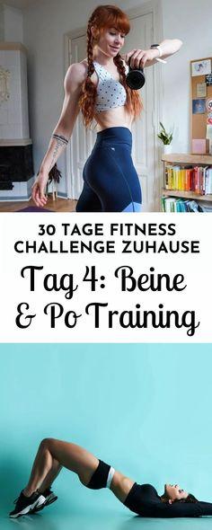 Schlanke Beine und fester Po - an Tag 4 der 30 Tage Fitness Challenge erwartet dich ein forderndes Workout ohne Geräte für die Beine und das Gesäß. Die Übungen sind abwechslungsreich und intensiv und helfen dir beim Muskelaufbau und Abnehmen.