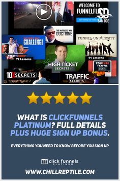 What is ClickFunnels Platinum? The new ClickFunnels pricing plan explained. What do you need to know before you upgrade? All the details here, plus the best ClickFunnels Platinum bonus. Pro Plan, How To Plan, University Challenge, Tony Robbins, Web Development, Need To Know, Things To Think About