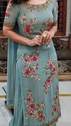 Shop salwar suits online for ladies from BIBA, W & more. Explore a range of anarkali, punjabi suits for party or for work. Patiala Suit Designs, Kurta Designs Women, Salwar Designs, Kurti Designs Party Wear, Punjabi Suits Designer Boutique, Indian Designer Suits, Designer Salwar Suits, Embroidery Suits Punjabi, Kurti Embroidery Design